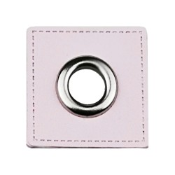Leatherette Patch with Nickel Eyelet - 10 Squares