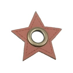 Leatherette Patch with Eyelet - 10 Stars