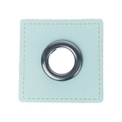 Leatherette Patch with Grafit Eyelet - 10 Squares