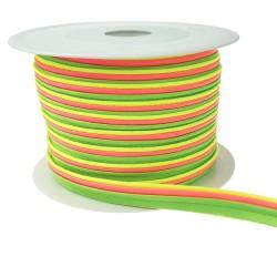 Paspel dreifarbig neon - 25m