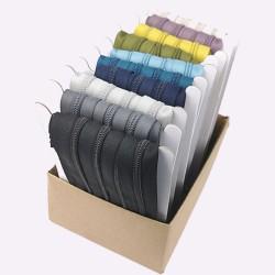 Endlos Spiralzipper #5 - 10x 5m + 10x 15 Schieber (Herbstfarben)