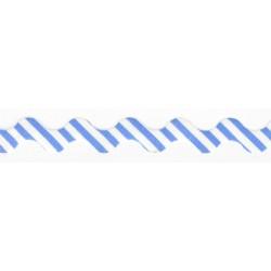 Volantband uni - navyblau