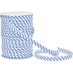 Schrägband uni - reinweiß