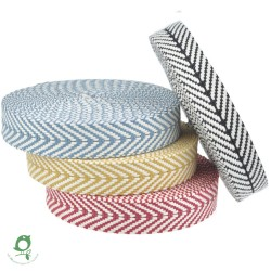Cotton Tape (partly recycled) Chevron 40mm - 12m