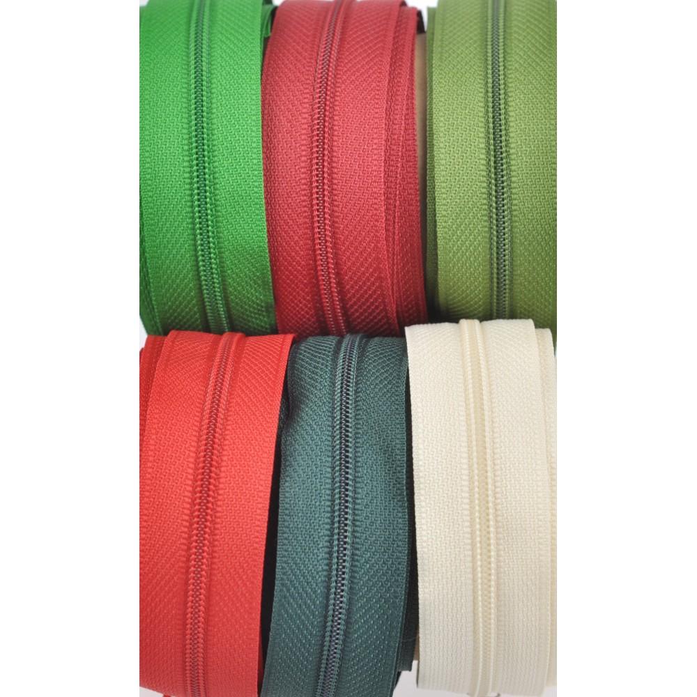 6m SR3+18 Schieber - creme, rot, dunkelrot, grün, oliv, dunkelgrün