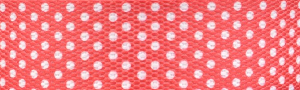 15m - Dots weiß/pink