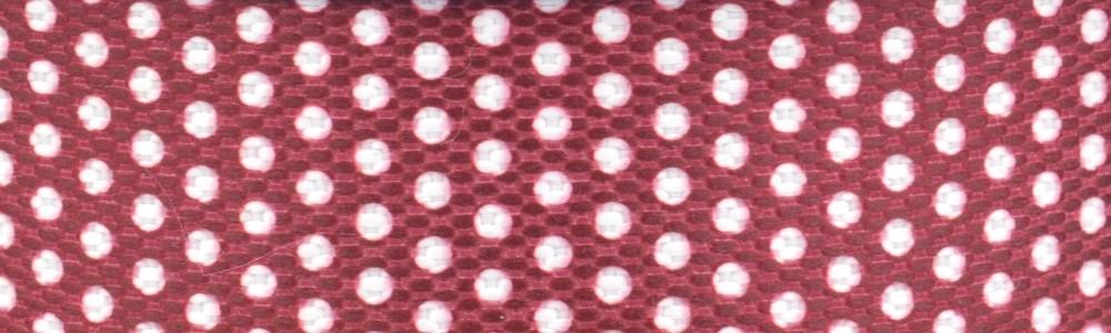 15m - Dots weß/weinrot