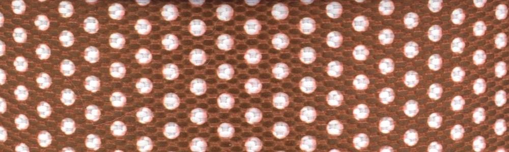 15m - Dots weß/braun