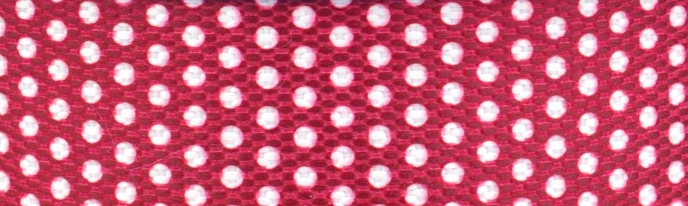 15m - Dots weiß/himbeer