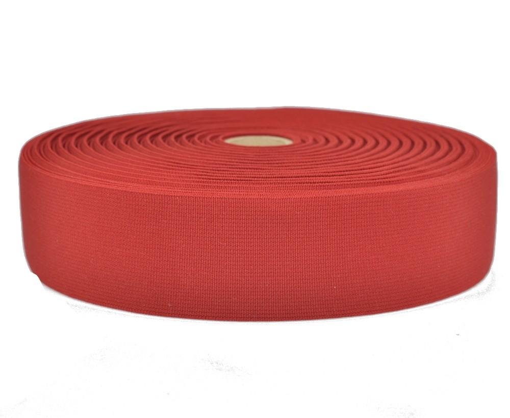25m - Gummiband 50mm breit, weinrot