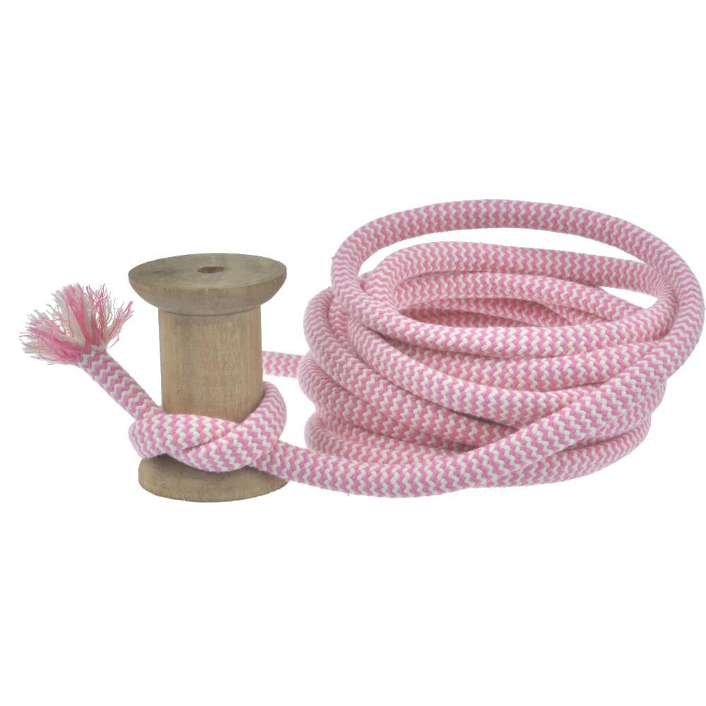 4m - Zig Zag pink/naturweiß