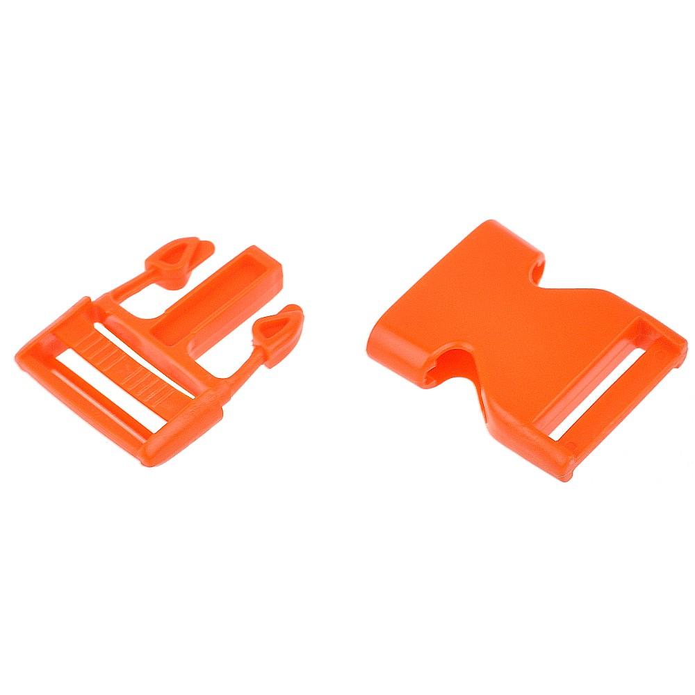 5 St. - Steckschnalle 30, orange
