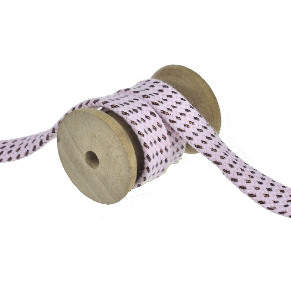 25m - 3139 flat cord rose/copper