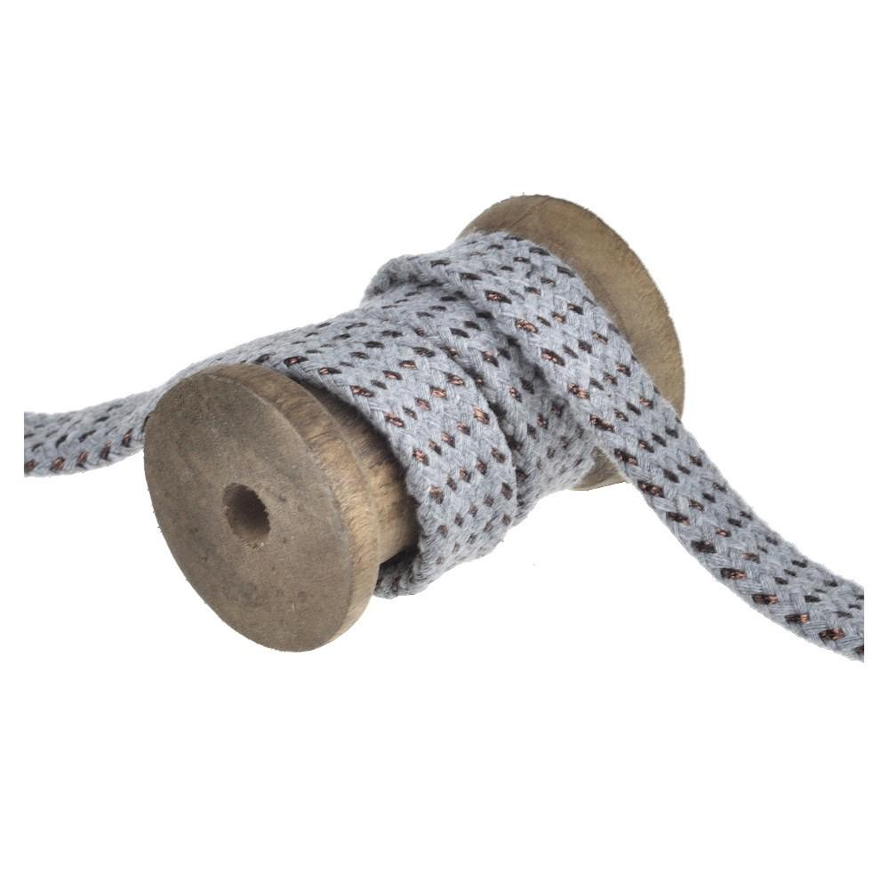 25m - 3133 flat cord grey/copper