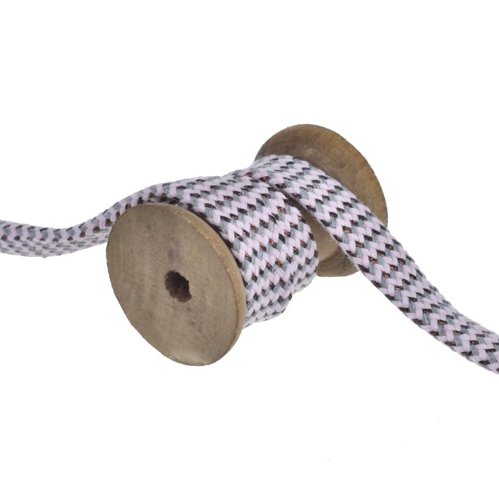 25m - 3239 flat cord grey/rose/copper