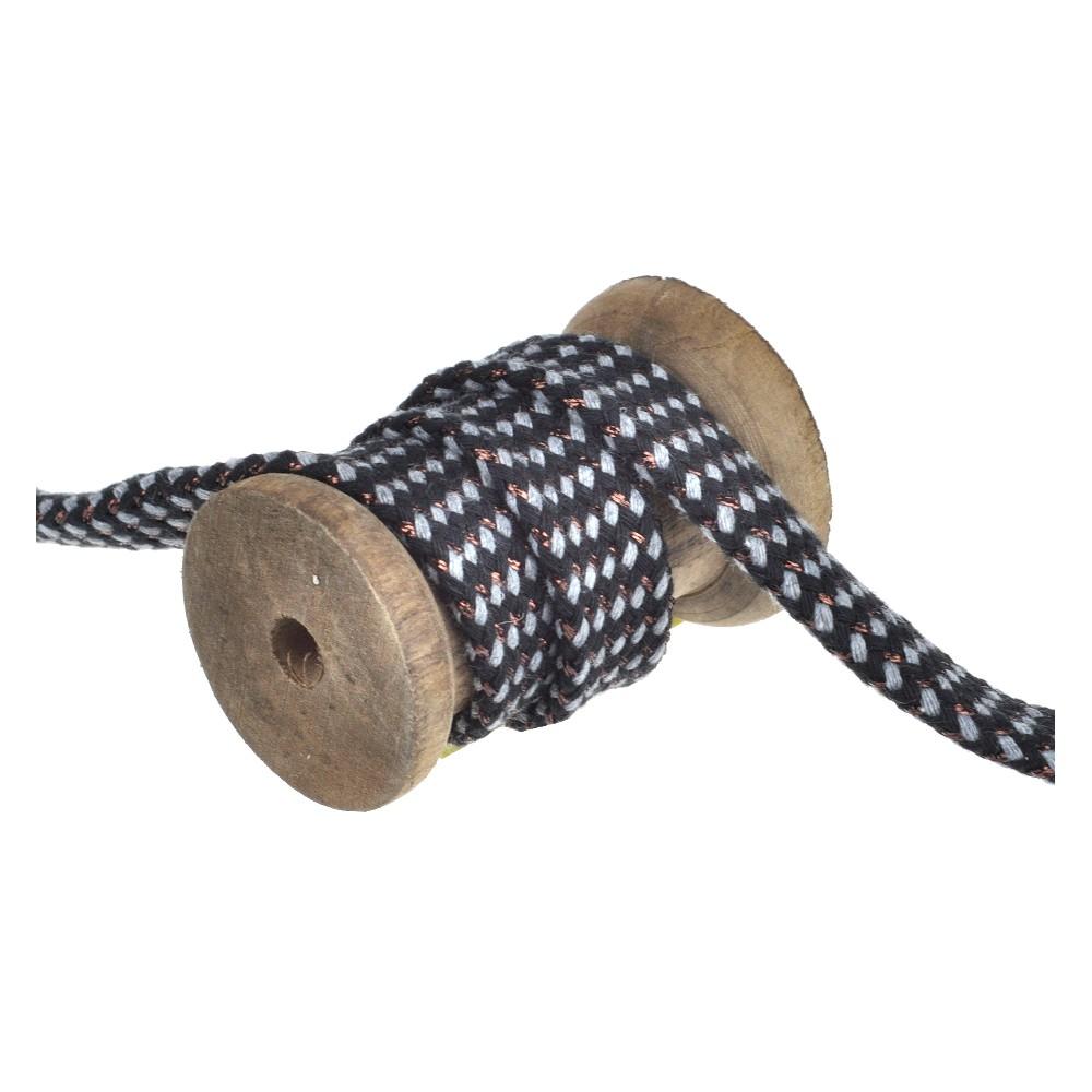 25m - 3233 flat cord black/grey/copper