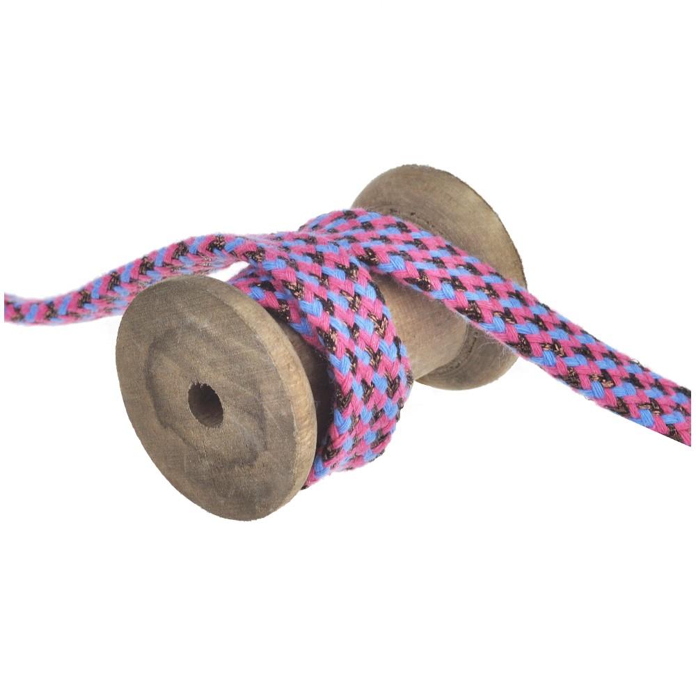 25m - 3329 flat cord pink/blue/copper
