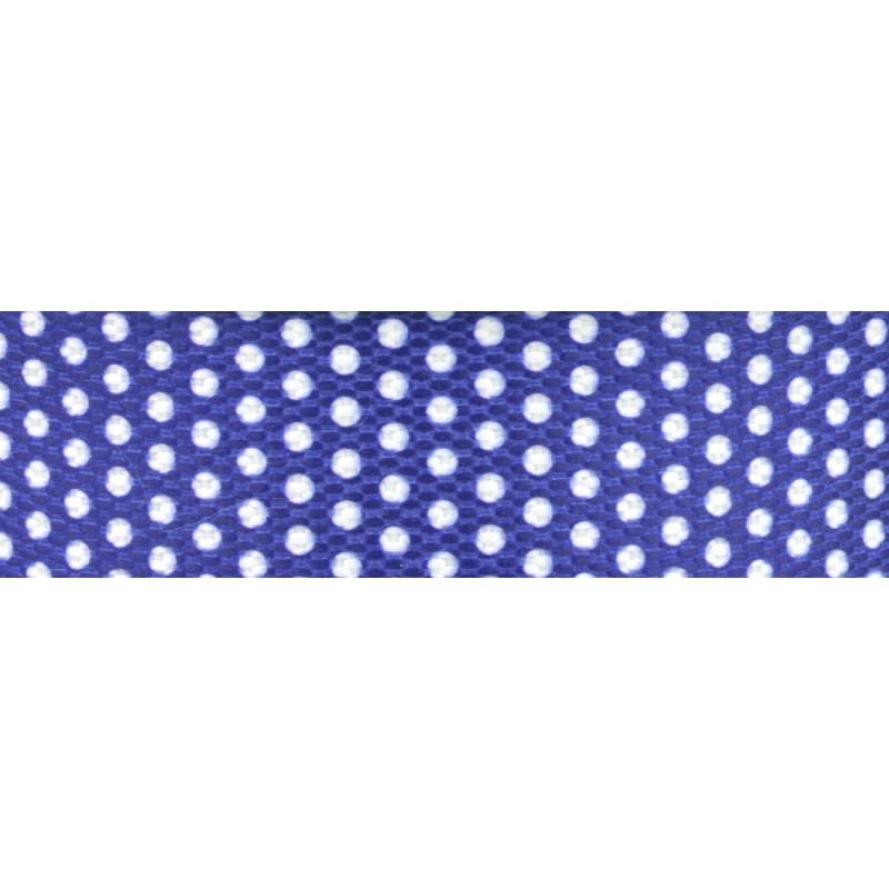 15m - Dots weiß/blau