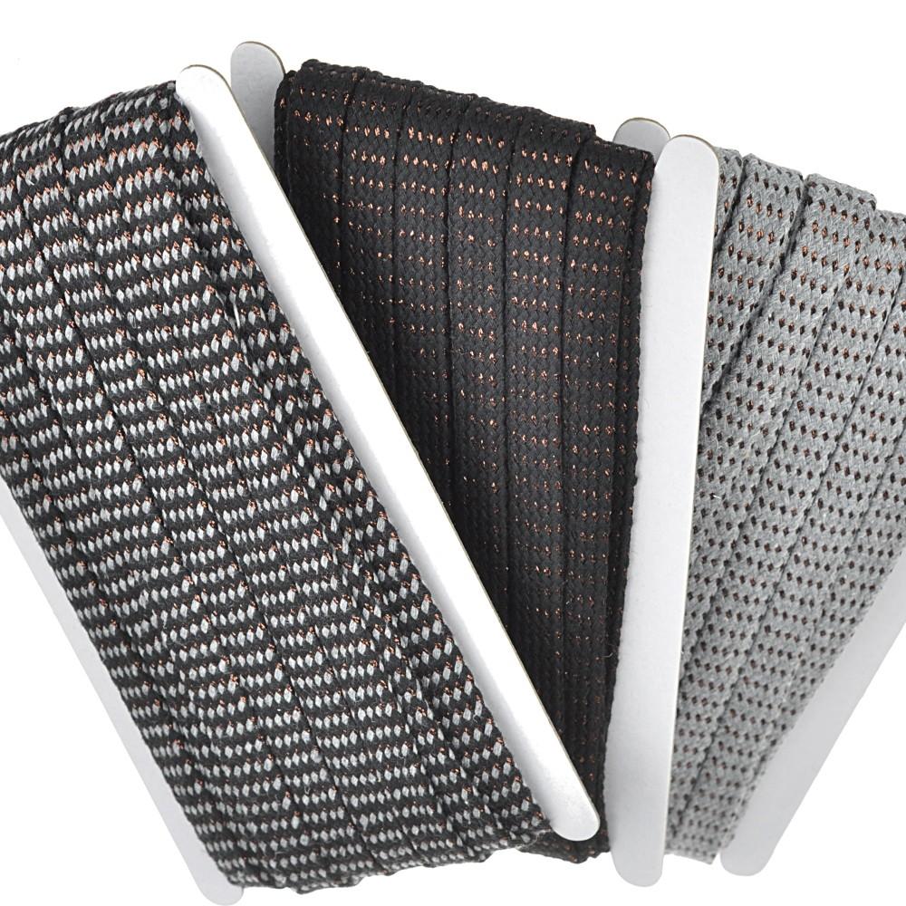 3x 8m -  0101 grau-schwarz/Kupfer / Design 1