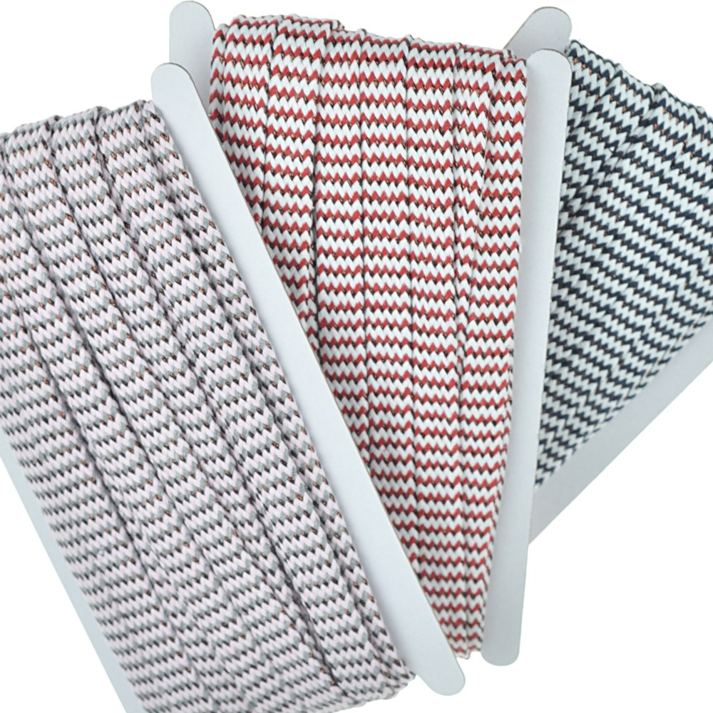 3x 8m -  0200 rosagrau-rotweiß-navyweiß/Kupfer / Design 2