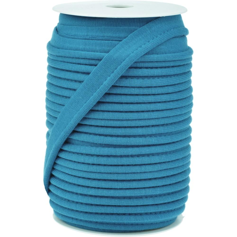 20m - 0377 MOSAIC BLUE - Paspelband Jersey 15 mm