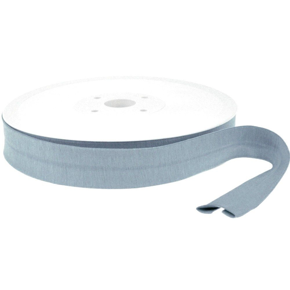 20m - 0278 DUSTY BLUE - Schrägband Jersey 20/10 mm