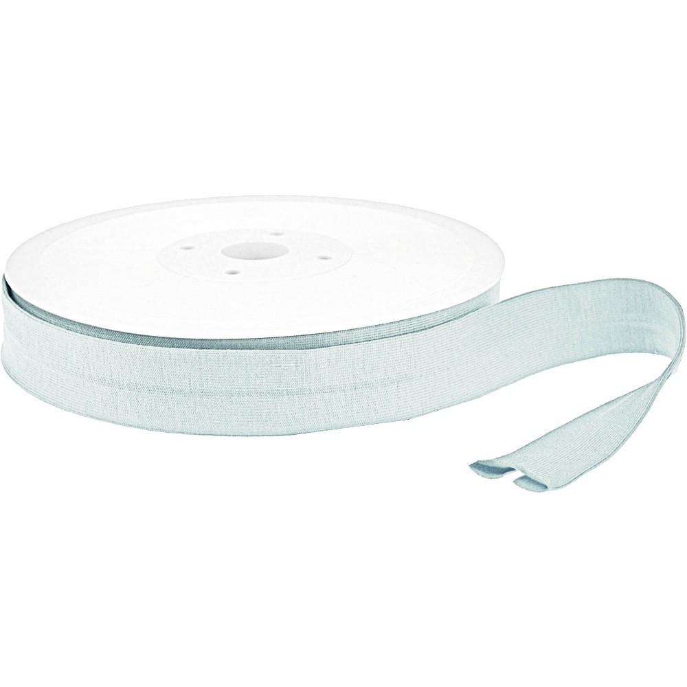 20m - 0385 OPAL BLUE - Schrägband Jersey 20/10 mm