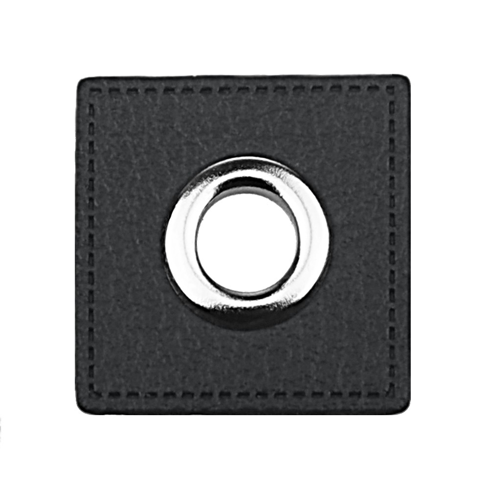 12 St. Quadrat schwarz - Öse Nickel