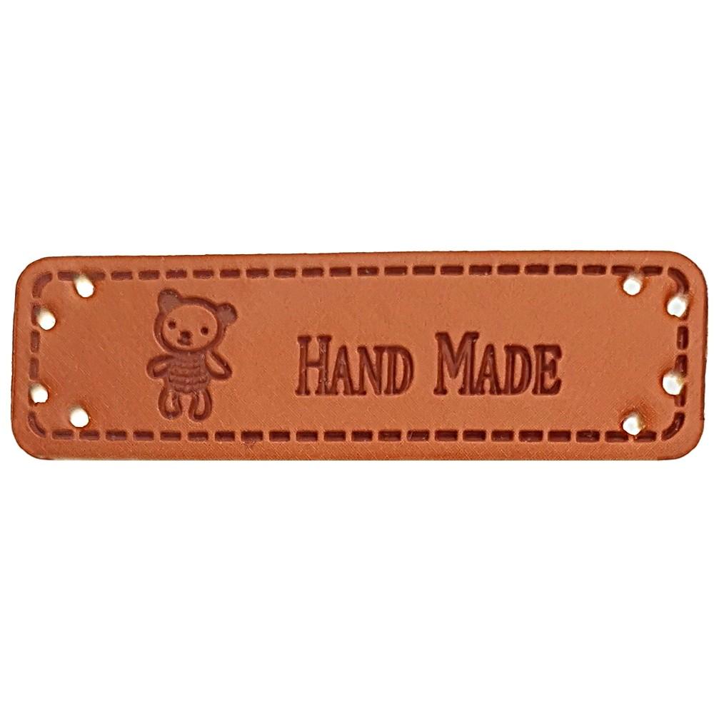 """0003 - Aufschrift """"Hand Made"""", Motiv Teddy"""