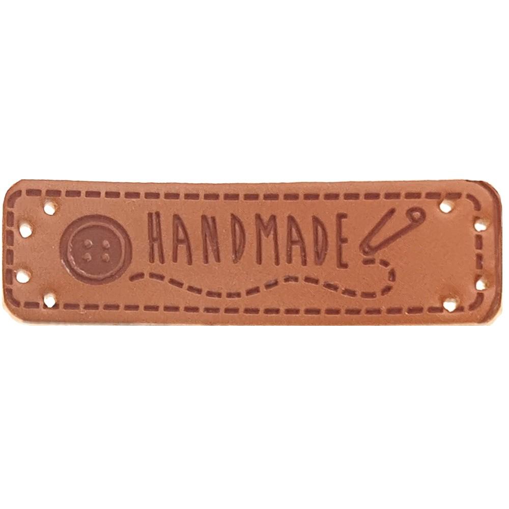 """0001 - Aufschrift """"Handmade"""", Motiv Knopf & Sicherheisnadel"""
