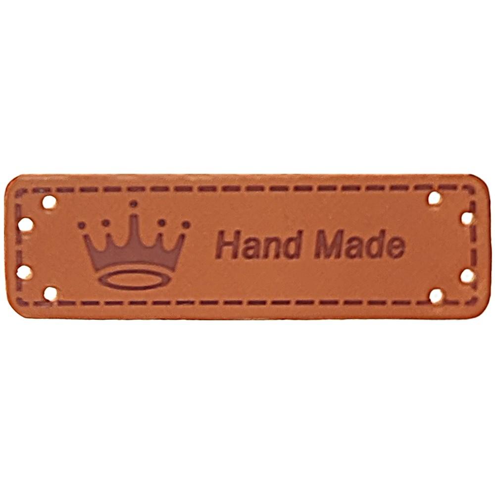 """0005 - Aufschrift """"Hand Made"""", Motiv Krone"""
