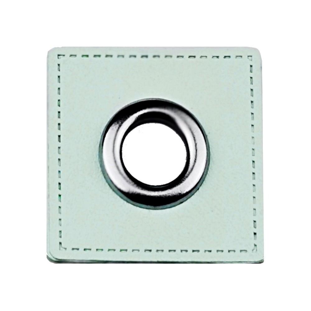 10 St. - Quadrat mint 27 x 27 mm, Öse nickel 8mm