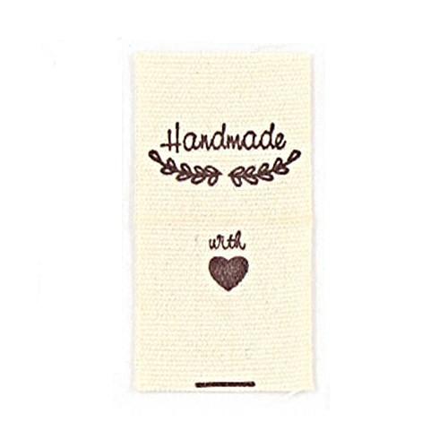 """BW-Label mit Lorbeeren und Aufschrift """"Handmade"""""""