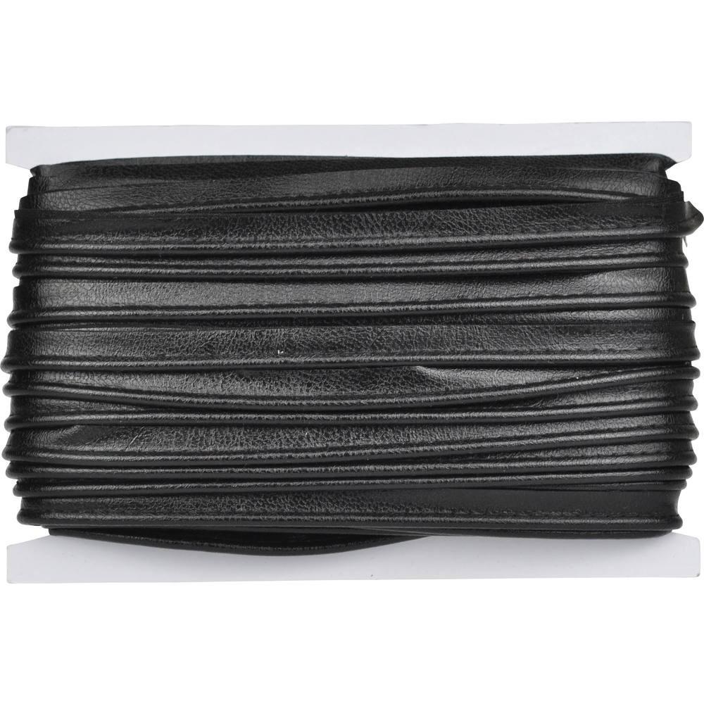 schwarz glänzend genarbt
