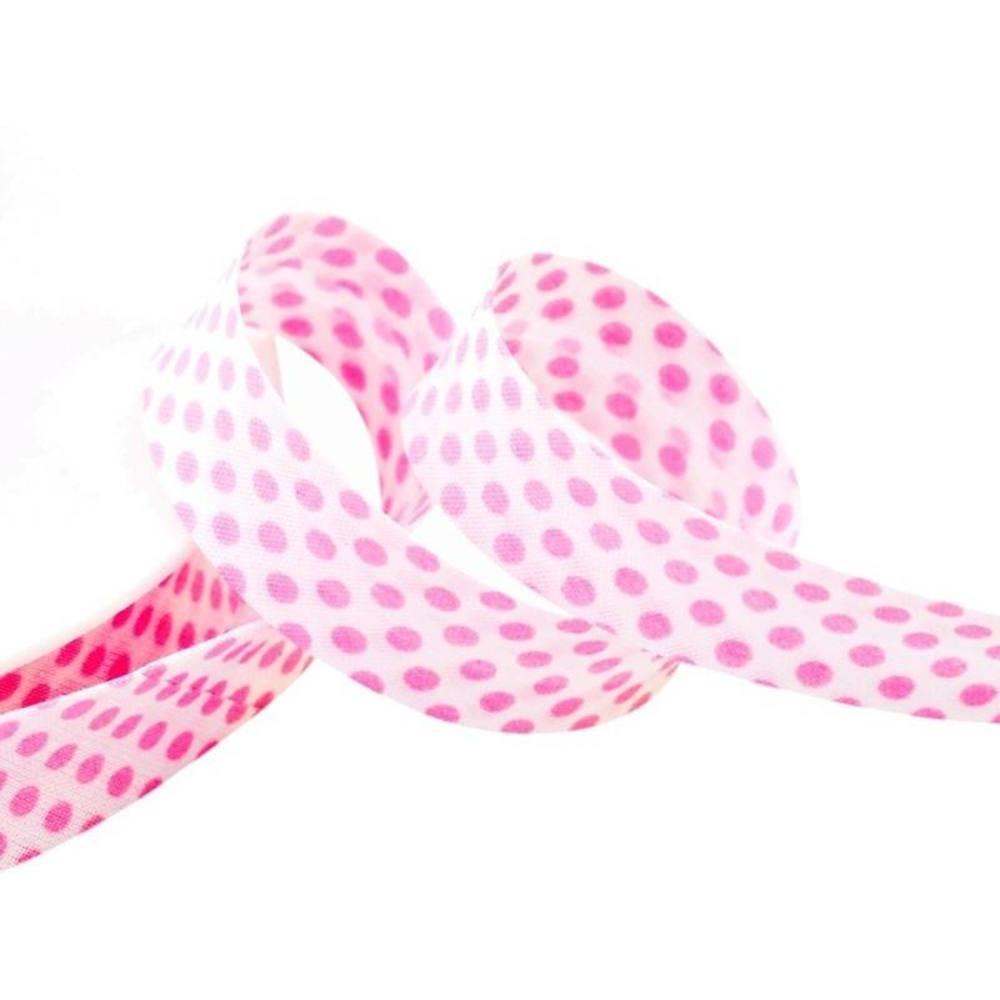 Punkte weiß - rosa