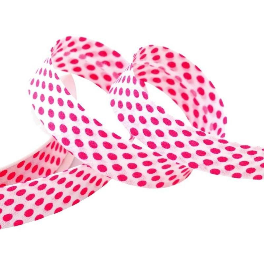 Punkte weiß - pink