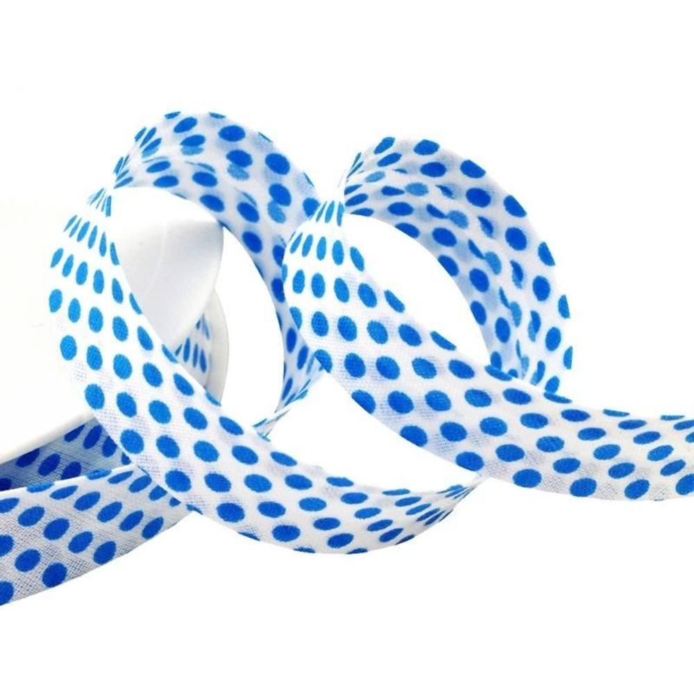 Punkte weiß - türkisblau