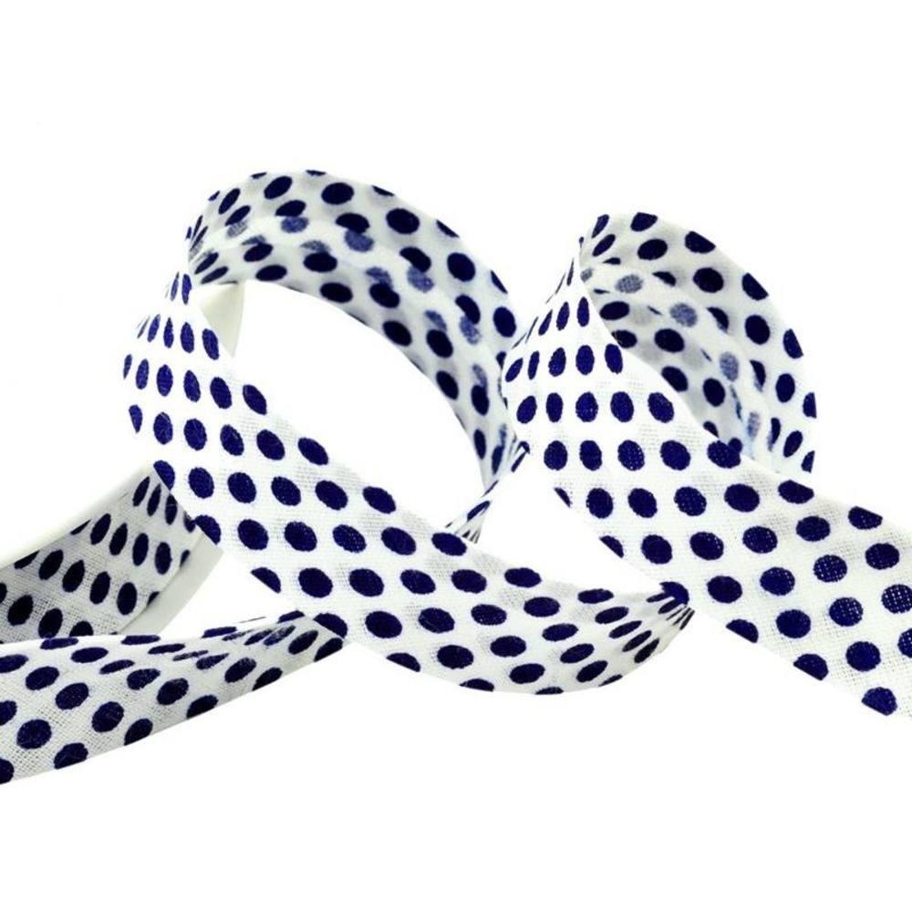 Punkte weiß - marineblau