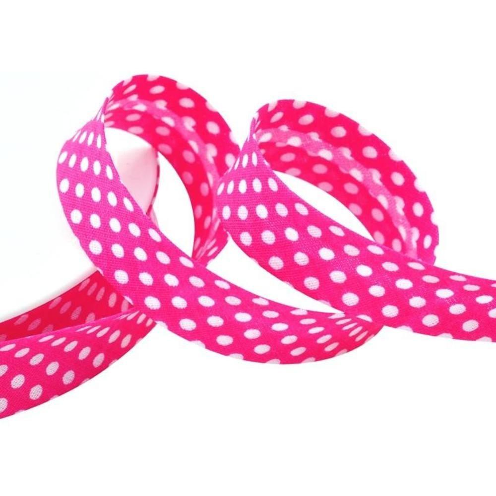 Punkte pink - weiß