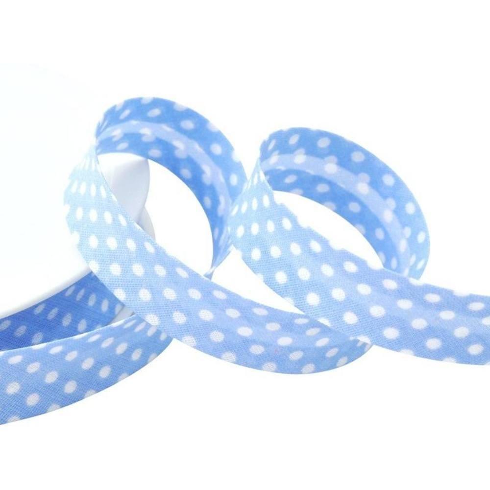 Punkte hellblau - weiß