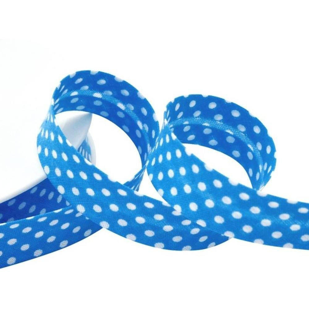 Punkte türkisblau - weiß