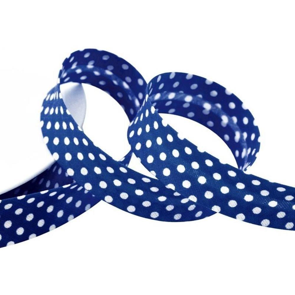 Punkte marineblau - weiß