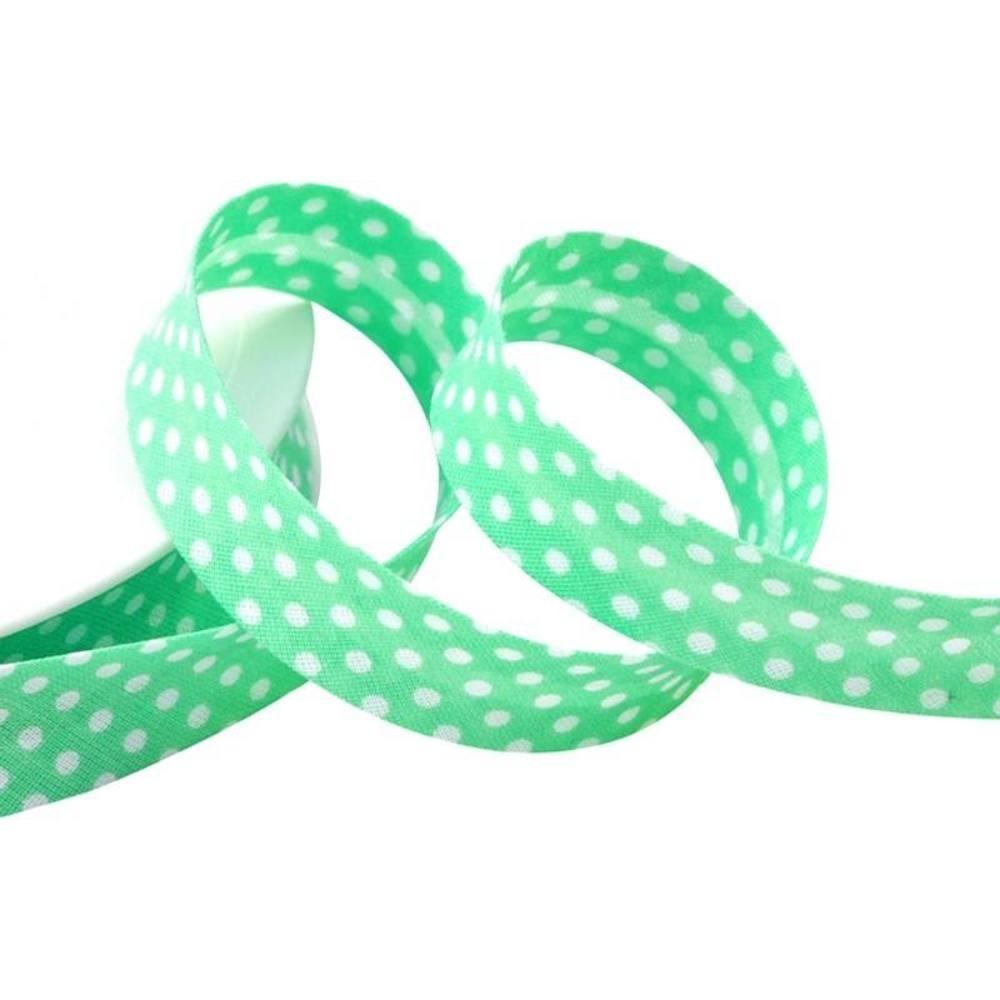 Punkte mintgrün - weiß