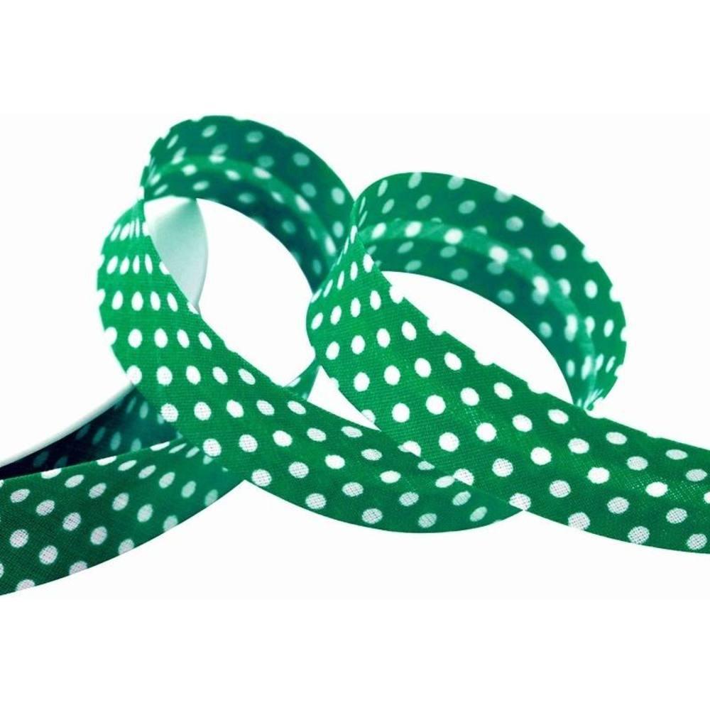 Punkte grün - weiß