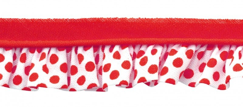 25m - 6028 Pois rouge/blanc