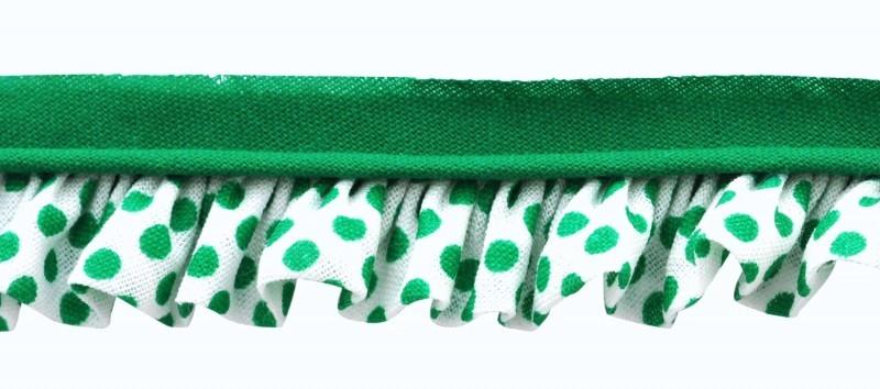25m - 6055 Pois vert/blanc