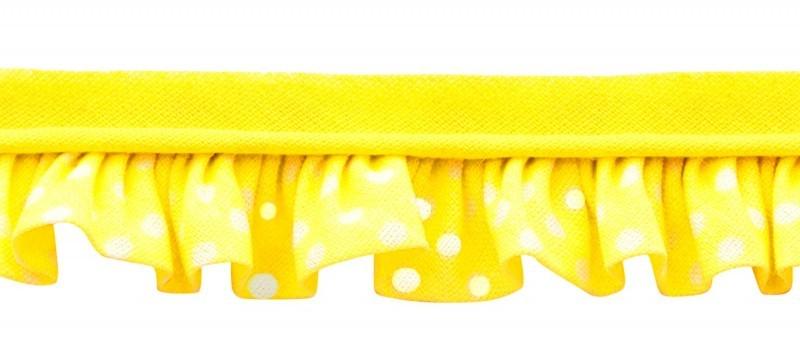 25m - 3017 Pois blanc/jaune