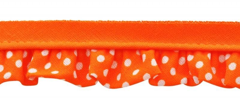 25m - 3087 Pois blanc/orange