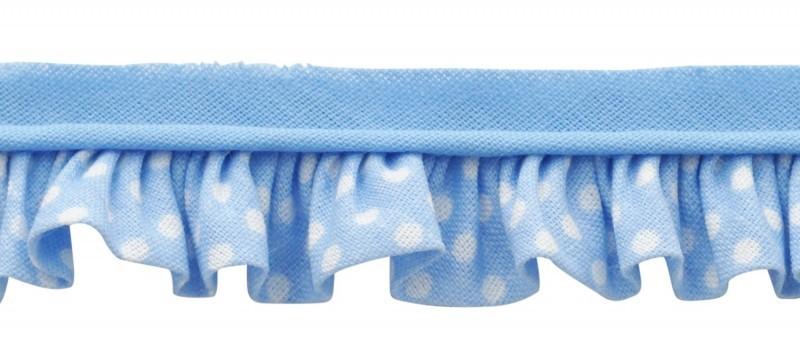 25m - 3041 Pois blanc/bleu clair