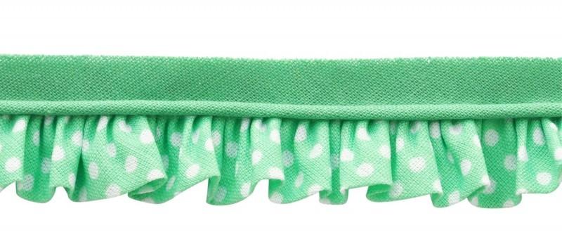 25m - 3051 Pois blanc/vert menthe